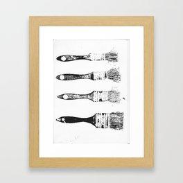 Brush Print Framed Art Print