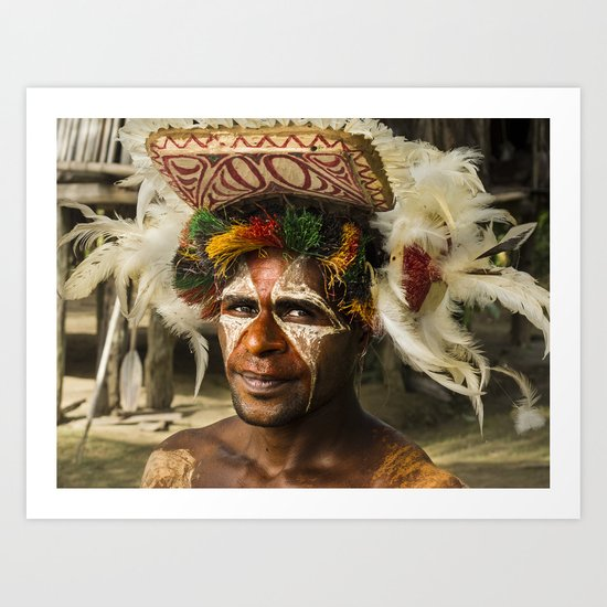 Sepik Tribesman Art Print