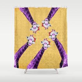Tis The Season - Giraffe Shower Curtain
