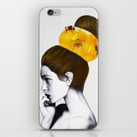 bee iPhone & iPod Skins featuring The Bee Hive  by Jenny Liz Rome