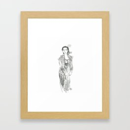 Javanese lady Framed Art Print