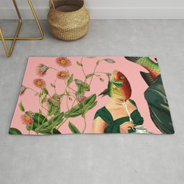 fish soul mate pink #collage Rug