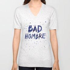 Bad Hombre Watercolor Art Unisex V-Neck