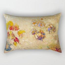 "Odilon Redon ""Panneau Décoratif"" Rectangular Pillow"