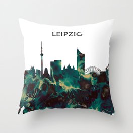 Leipzig Skyline Throw Pillow