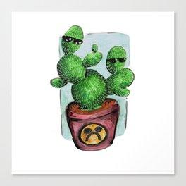 cactus sadboy Canvas Print