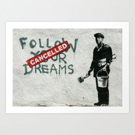 Banksy Follow Your Dreams Art Print