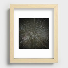 zooming towards stars Recessed Framed Print