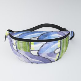 Pipelines watercolor Fanny Pack