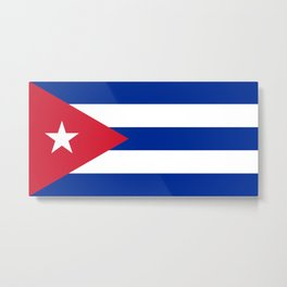 National flag of Cuba - Authentic version Metal Print