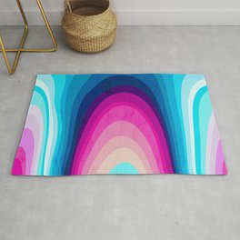 Woodwork Rainbow Tree Rug