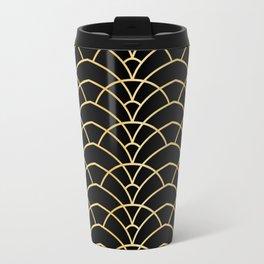 Art Deco Series - Black & Gold Travel Mug