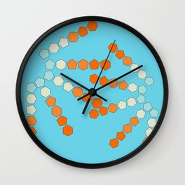 Polygons II Wall Clock