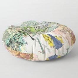 Madeline Montmartre colored Floor Pillow