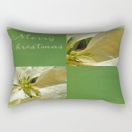 Pale Yellow Poinsettia 1 Merry Christmas Q5F1 Rectangular Pillow