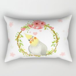 With Love From The Sweetest Cockatiel Rectangular Pillow