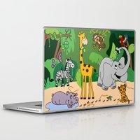 jungle Laptop & iPad Skins featuring JUNGLE by Rebecca Bear