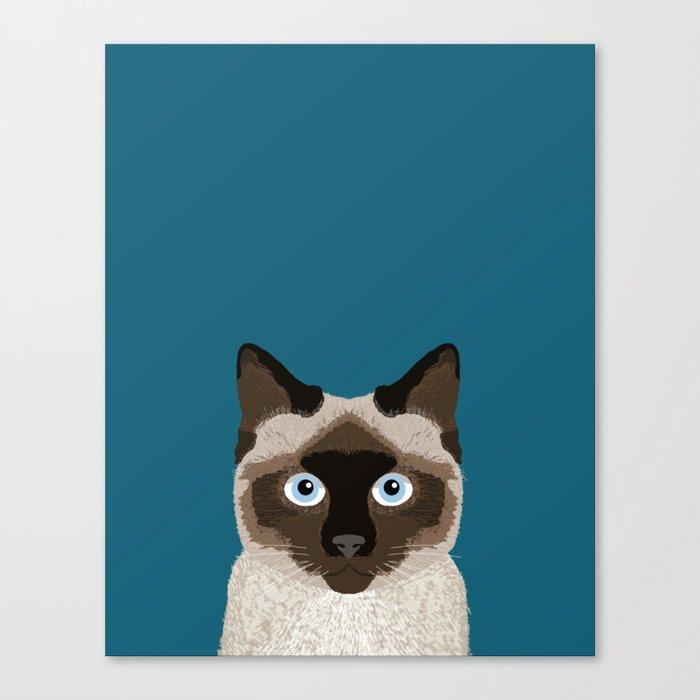best service 28dec d619d Ezra - Siamese Cat, Cute Kitten Retro Cat Art cell phone case, siamese,  cute cat Canvas Print by petfriendly
