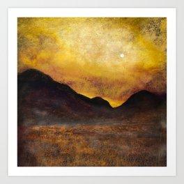 Glencoe Moonlight Art Print