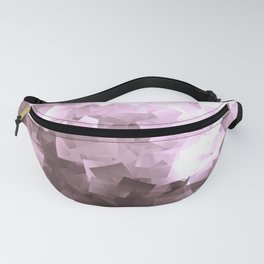 Purple Amethyst Crystal Print Fanny Pack