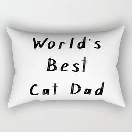 World's best cat dad Rectangular Pillow