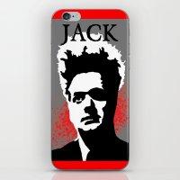 "martell iPhone & iPod Skins featuring ""JACK"" ~ Eraserhead Jack Nance ~ David Lynch ~ Twin Peaks by DJ Lynchpin"