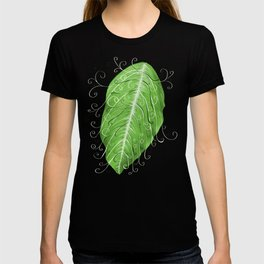 Swirly Green Leaf Pattern T-shirt