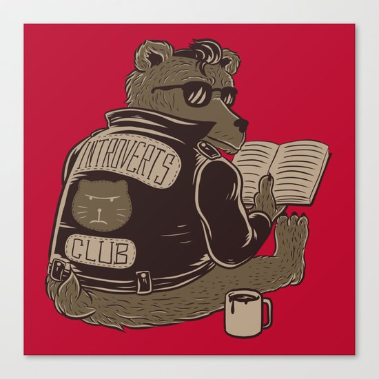 Introverts Club Canvas Print