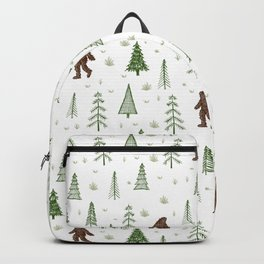 trees + yeti pattern in color Backpack