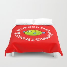 Sushi Bar (Red/White) Duvet Cover