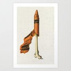 To The Core: Orange Art Print