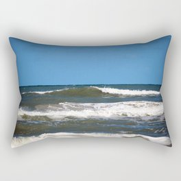 Powerful Waves Rectangular Pillow