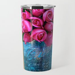 BALL MASON JAR AND ROSES Travel Mug