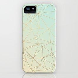 Pastel Geometric Minimalist Pattern iPhone Case