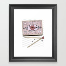 Perfect Match Framed Art Print