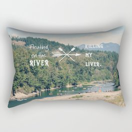 Floating on the River Rectangular Pillow