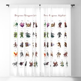 Monster Alphabet Blackout Curtain
