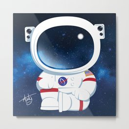 Astro Buddha  Metal Print