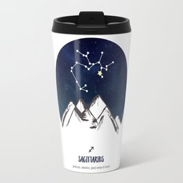 Astrology Sagittarius Zodiac Horoscope Constellation Star Sign Watercolor Poster Wall Art Travel Mug