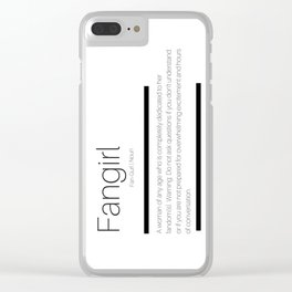 Fangirl Defined Clear iPhone Case