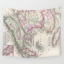 Vintage Nova Scotia and New Brunswick Map (1866) Wall Tapestry