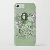snape iPhone & iPod Cases featuring Portrait of a Potions Master by Karen Hallion Illustrations