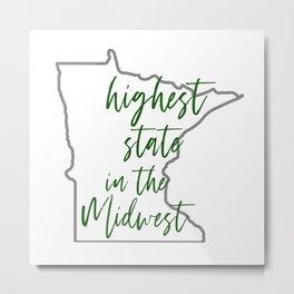 highest state Metal Print