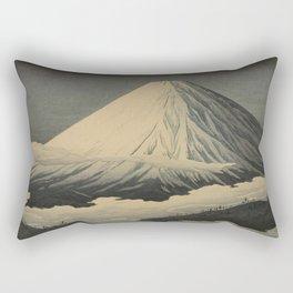 Shotei Takahashi Four Seasons of Mount Fuji Near Omuro Kawase Hasui Japanese Woodblock Print Rectangular Pillow