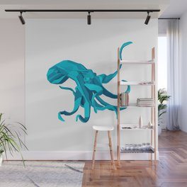 Origami Octopus Wall Mural