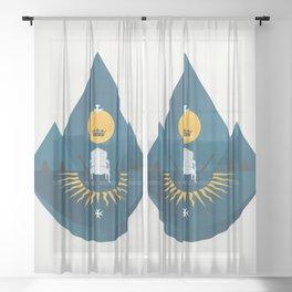 The Sun King Sheer Curtain