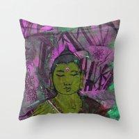 queer Throw Pillows featuring Queer Buddha ~ Success II by Jamila
