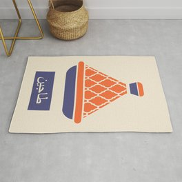 Tagine in Red and Blue Rug