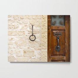 A Wall in San Marino Metal Print