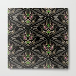 Art Deco 35 . Mystic . Metal Print